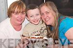 CHOCOLATE: Peter Williams of Tralee enjoying his Chocolate with Maureen and Elaine Williams at the Kerry Homes and Garden Show at Dan Spring Road, Tralee, on Saturday..