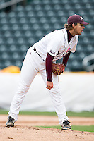 Nick Petree #10 of the Missouri State Bears stands on the mound during a game against the Wichita State Shockers at Hammons Field on May 4, 2013 in Springfield, Missouri. (David Welker/Four Seam Images)