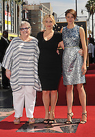 Kate Winslet with Kathy Bates &amp; Shailene Woodley (right) on Hollywood Blvd where Winslet is honored with the 2,520th star on the Hollywood Walk of Fame.<br /> March 17, 2014  Los Angeles, CA<br /> Picture: Paul Smith / Featureflash