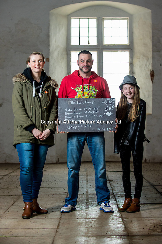 Saturday  18 February 2014<br /><br />Pictured:<br />Re: Sign a Slate' activity takes place in the riding school at Tredegar House, Newport, South Wales.  Sign a Slate is a fundraising campaign to support roof repairs where visitors can purchase a slate and write a chalk message on it before it goes on the roof.