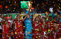04.07.2020, Fussball DFB Pokal Finale, Bayer 04 Leverkusen - FC Bayern Muenchen emspor,  v.l. Manuel Neuer (FC Bayern Muenchen) mit dem Pokal<br /> Foto: Kevin Voigt/Jan Huebner/Pool/Marc Schueler/Sportpics.de<br /> <br /> (DFL/DFB REGULATIONS PROHIBIT ANY USE OF PHOTOGRAPHS as IMAGE SEQUENCES and/or QUASI-VIDEO - Editorial Use ONLY, National and International News Agencies OUT)