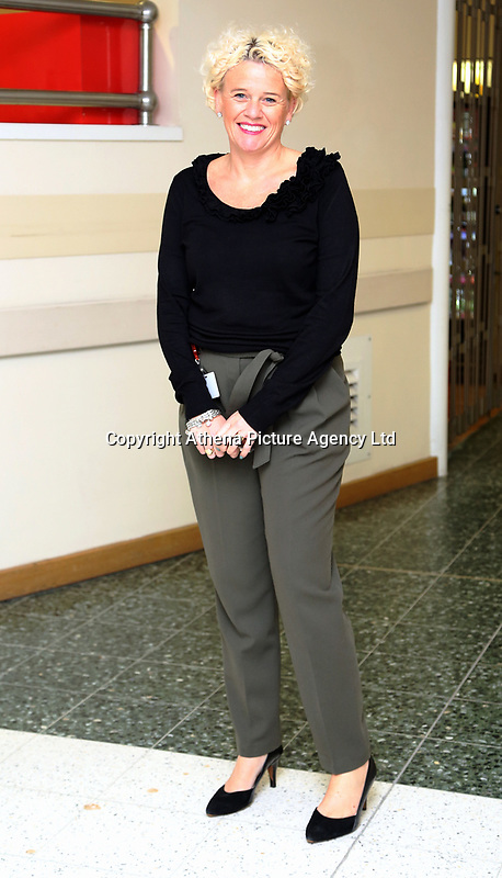 Pictured: Director of services Clare Edwards at Neath Port Talbot hospital. Wednesday 08 November 2017<br /> Re: Presentation of hospital catering syndicate win £25m in Euromillions Jackpot at Hensol Castle, south Wales, UK. Julie Saunders, 56, Doreen Thompson, 56, Louise Ward, 37, Jean Cairns, 73, SIan Jones, 54 and Julie Amphlett, 50 all work as catering staff for Neath Port Talbot Hospital in south Wales.