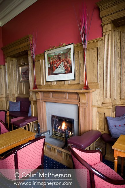 The Study, a bar at the Willington Hall House hotel situated in the Cheshire village of Willington, pictured as part of the Cheshire Food Trail.