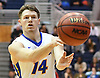 Brian Bernardi #14 of Hofstra University makes a pass during an NCAA men's basketball game against Drexel at Mack Sports Complex in Hempstead, NY on Saturday, Feb. 4, 2017.