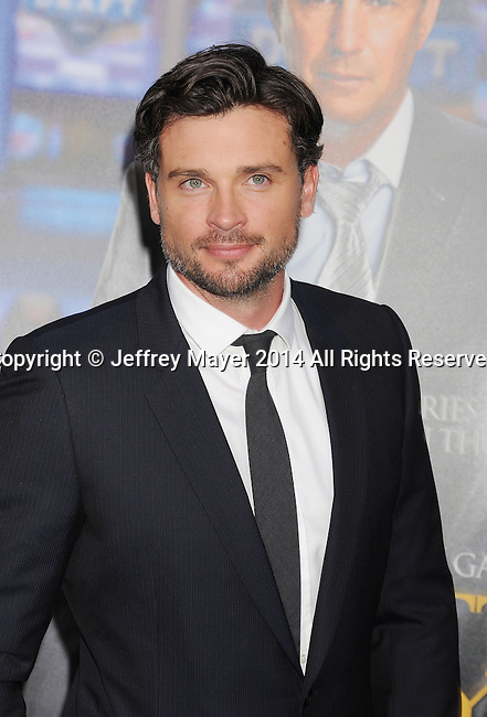 WESTWOOD, CA- APRIL 07: Actor Tom Welling attends the Los Angeles premiere of 'Draft Day' at the Regency Village Theatre on April 7, 2014 in Westwood, California.