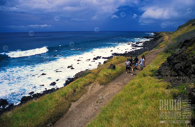 Bird watchers come to Kaena point bird sanctuary to see the Laysan albatross (diomedea immutabilis) on Oahu