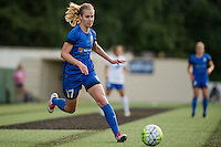 Seattle, Washington - Saturday, July 2nd, 2016: Seattle Reign FC midfielder Beverly Yanez (17) during a regular season National Women's Soccer League (NWSL) match between the Seattle Reign FC and the Boston Breakers at Memorial Stadium. Seattle won 2-0.
