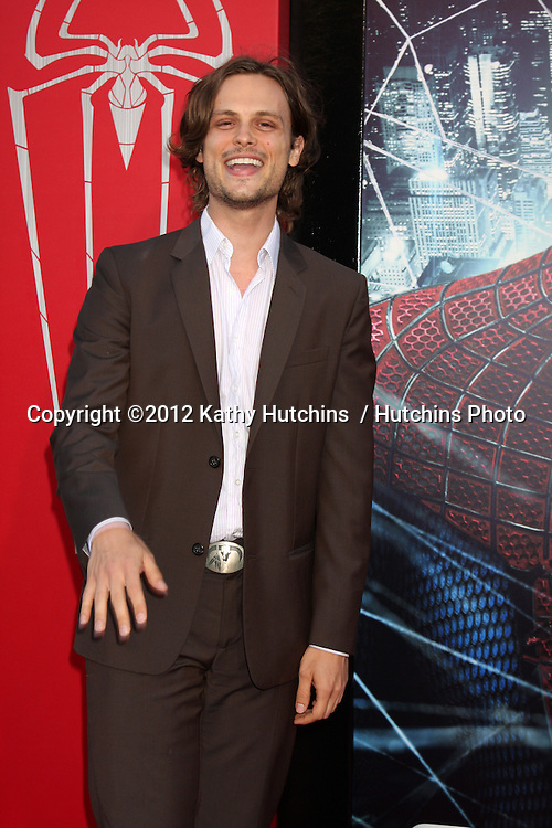 """LOS ANGELES - JUN 28:  Matthew Gray Gubler arrives at the """"The Amazing Spider-Man"""" Premiere at Village Theater on June 28, 2012 in Westwood, CA"""