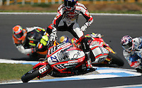 Australian Motorcycle Grand Prix at Phillip island. 2 time World champ Casey Stoner crashes out of the race.