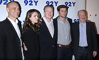 NEW YORK, NY-October 30: Joel Fields, Matthew Rhys, Tim Goodma, Keri Russell, Joe Weisberg at 92Y presents FX's series The Americans at 92nd Street Y in New York.October 30, 2016. Credit:RW/MediaPunch