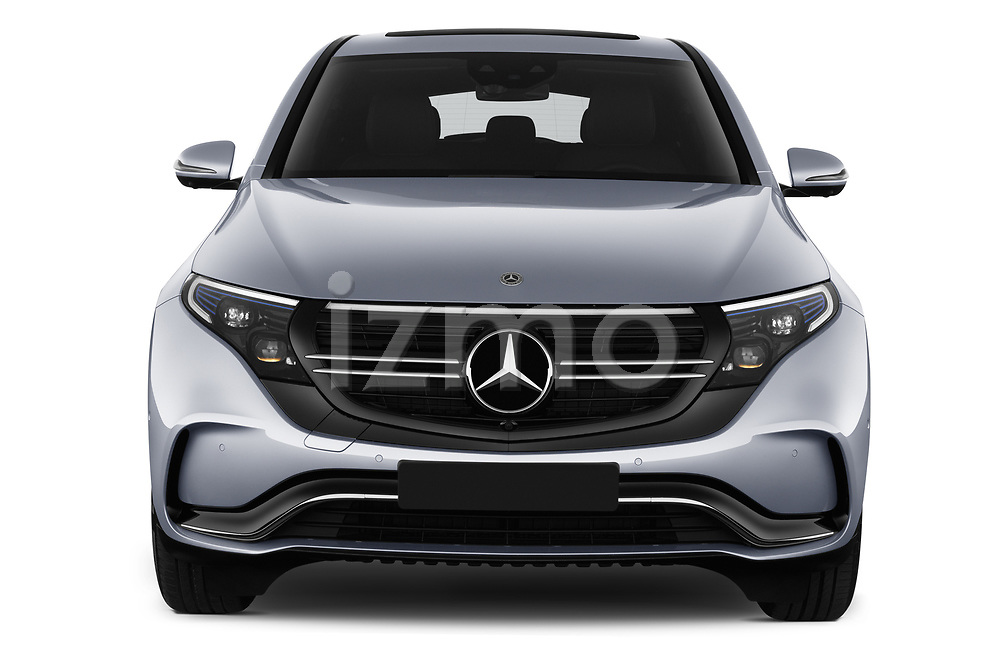Car photography straight front view of a 2019 Mercedes Benz EQC AMG-Line 5 Door SUV