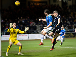 Dundee v St Johnstone&hellip;29.12.18&hellip;   Dens Park    SPFL<br />Tony Watt heads over the bar<br />Picture by Graeme Hart. <br />Copyright Perthshire Picture Agency<br />Tel: 01738 623350  Mobile: 07990 594431