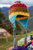 Peru, Urubamba Valley.  Peruvian Hat.