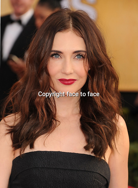 LOS ANGELES, CA- JANUARY 18: Actress Carice van Houten arrives at the 20th Annual Screen Actors Guild Awards at The Shrine Auditorium on January 18, 2014 in Los Angeles, California.<br />