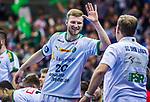 Philipp WEBER (#20 SC DHfK Leipzig) \ beim Spiel in der Handball Bundesliga, SG BBM Bietigheim - SC DHfK Leipzig.<br /> <br /> Foto &copy; PIX-Sportfotos *** Foto ist honorarpflichtig! *** Auf Anfrage in hoeherer Qualitaet/Aufloesung. Belegexemplar erbeten. Veroeffentlichung ausschliesslich fuer journalistisch-publizistische Zwecke. For editorial use only.