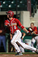 Grant Green of the USC Trojans during game against the  Western Carolina Catamounts at Dedeaux Field in Los Angeles,CA.  Photo by Larry Goren/Four Seam Images