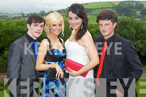 Steven Knightly, Aisling King, Leonie Hanafin and Patrick O'Dowd pictured at the Pres Tralee debs in Ballyroe Heights Hotel on Wednesday, August 8th..
