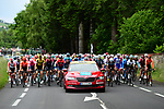 The start of Stage 1 of the Criterium du Dauphine 2019, running 142km from Aurillac to Jussac, France. 9th June 2019<br /> Picture: ASO/Alex Broadway | Cyclefile<br /> All photos usage must carry mandatory copyright credit (© Cyclefile | ASO/Alex Broadway)