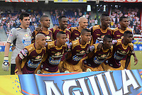 BARRANQUIILLA -COLOMBIA-02-05-2015. Jugadores del Deportes Tolima posan para una foto previo al encuentro con Atlético Junior por la fecha 18 de la Liga Águila I 2015 jugado en el estadio Metropolitano Roberto Meléndez de la ciudad de Barranquilla./ Players of Deportes Tolima pose to a photo prior a match against Atletico Junior for the 18th  date of the Aguila League I 2015 played at Metropolitano Roberto Melendez stadium in Barranquilla city.  Photo: VizzorImage/ Alfonso Cervantes / Cont
