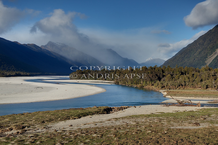 Arawhata River. Westland Region. New Zealand.