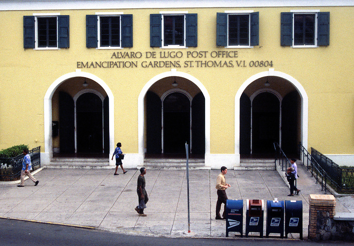 The main post office in the city if Charlotte Amalie, St. Thomas, US Virgin Islands. Photo by Matt May