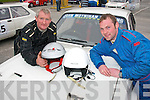 High Speed: Diarmuid Lynch(Lt)and his co-pilot John Falvey both from Glenflesk get ready to take part in the Rally of the lakes last weekend based in Killarney..