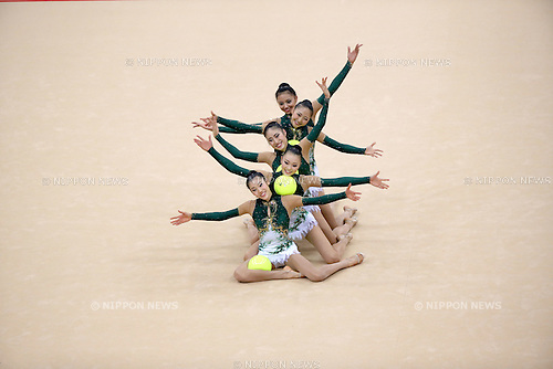 Japan team group (JPN), .AUGUST 12, 2012 - Rhythmic Gymnastics : .Group All-Around Final at Wembley Arena .during the London 2012 Olympic Games in London, UK. .(Photo by Koji Aoki/AFLO SPORT) [0008]