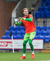 Goalkeeper Loris Karius of Liverpool during pre match warm up during the 2016/17 Pre Season Friendly match between Tranmere Rovers and Liverpool at Prenton Park, Birkenhead, England on 8 July 2016. Photo by PRiME Media Images.