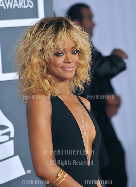 Rihanna at the 54th Annual Grammy Awards at the Staples Centre, Los Angeles..February 12, 2012  Los Angeles, CA.Picture: Paul Smith / Featureflash