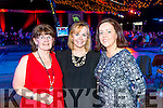 Pictured at the Austin Stacks Strictly Come Dancing held in the Dome, Tralee on Saturday night last, were l-r: Nada and Edel Hobbert with Emer McDaid, all from Tralee.