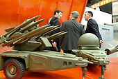 MBDA Missile Systems stand at the Defence Systems and Equipment International Exhibition, Docklands, London.