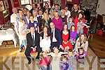 Congratulations - Ross & Edel Ahern from Fairway Heights, Tralee seated centre having a wonderful time with family and friends at the Christening celebrations for their daughter Rachael in O'Donnell's of Mounthawk on Saturday following the ceremony in St. Brendan's Church. Also seated were Rachael's Godparents Aidan & Catherine Dunne.