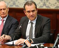 Luigi De Magistris, sindaco di Napoli durante la conferenza stampa tenuta dopo ilComitato Provinciale Ordine e Sicurezza nella Prefettura di Napoli