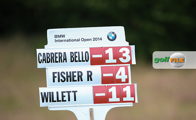 Rafa Cabrera-Bello (ESP) could have had the overall lead during Round Two but for a double hit when chipping onto the 7th at the BMW International Open 2014 from Golf Club Gut Lärchenhof, Pulheim, Köln, Germany. Picture:  David Lloyd / www.golffile.ie