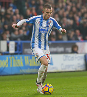 Huddersfield Town's Florent Hadergjonaj<br /> <br /> Photographer Alex Dodd/CameraSport<br /> <br /> The Premier League - Huddersfield Town v Swansea City - Saturday 10th March 2018 - John Smith's Stadium - Huddersfield<br /> <br /> World Copyright &copy; 2018 CameraSport. All rights reserved. 43 Linden Ave. Countesthorpe. Leicester. England. LE8 5PG - Tel: +44 (0) 116 277 4147 - admin@camerasport.com - www.camerasport.com