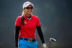 Ajira Nualraksa of Thailand reacts during the Hyundai China Ladies Open 2014 on December 09 2014 at Mission Hills Shenzhen, in Shenzhen, China. Photo by Aitor Alcalde / Power Sport Images