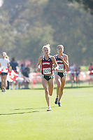 STANFORD, CA -- September 29, 2012: Kathy Kroeger and Cayla Hatton during the 39th running of the Stanford Invitational Saturday Morning at Stanford.