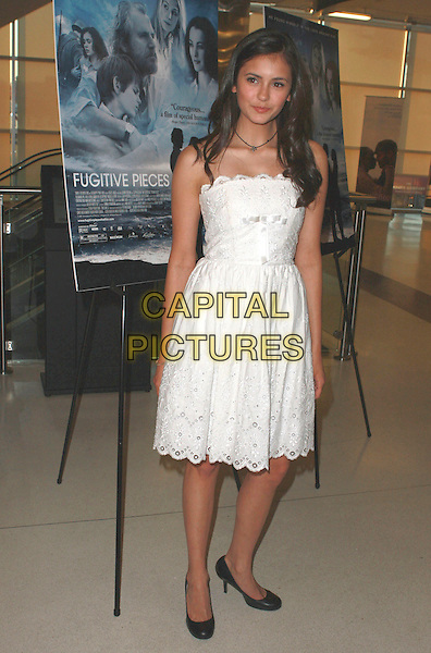 "NINA DOBREY.""Fugitive Pieces"" Los Angeles Premiere at the Landmark Theatre, Los Angeles, California, USA, 14 April 2008 .full length white strapless dress.CAP/ADM/`CH.©Charles Harris/Admedia/Capital PIctures"