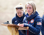 EAST MONTPELIER - USA Vermont Olympians speak at Morse Farm about the influence of climate change on winter sports they have experienced world wide and make suggestions on attacking the problem. Speaking, Liz Stephens, Background Ida Sargent.
