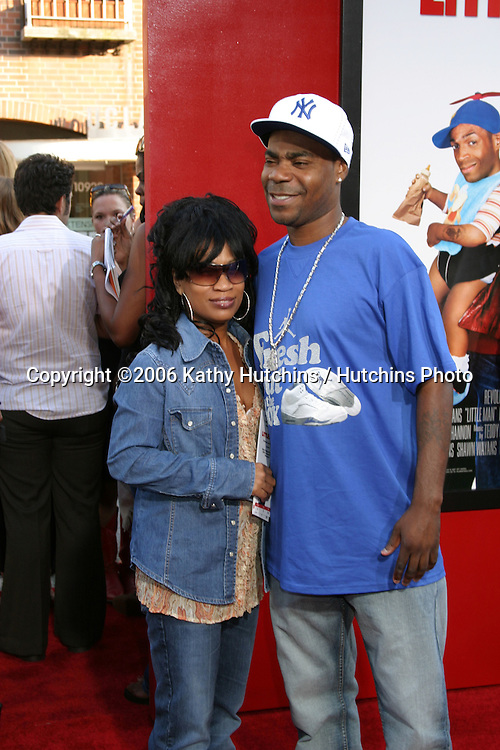"Tracy Morgan & wife.""Little Man"" Premiere.Mann's National Theater.Westwood, CA.July 6, 2006.©2006 Kathy Hutchins / Hutchins Photo...."