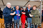 Enjoying the taste of Fresh Scallops on the Foot in Knightstown on Saturday were l-r; Anthony O'Connell, Dan O'Connor, Joanne Cahill, Fionán Murphy & Debora O'Connor.
