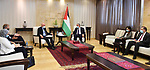 Palestinian Prime Minister Mohammad Ishtayeh, meet with UN officials in the West Bank city of Ramallah, on June 24, 2020. Photo by Prime Minister Office