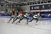 SPEED SKATING: SALT LAKE CITY: 18-11-2015, Utah Olympic Oval, ISU World Cup, training, Team Italy, ©foto Martin de Jong