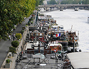 Private barges, Seine River, Paris