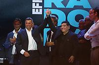 Bruno Giordano e Diego Armando Maradona<br /> Napoli 05-07-2017  Napoli Piazza del Plebiscito<br /> Evento per il conferimento della cittadinanza onoraria a Diego Armando Maradona da parte del Comune di Napoli.<br /> Honorary Citizenship to Diego Armando Maradona<br /> By the City of Naples.<br /> Foto Cesare Purini / Insidefoto