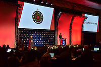 Los Angeles, CA - Thursday January 12, 2017: NWSL Managing Director of Operations Amanda Duffy during the 2017 NWSL College Draft at JW Marriott Hotel.