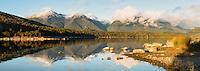 Lake Manapouri morning, Fiordland National Park, UNESCO World Heritage Area, Southland, New Zealand, NZ