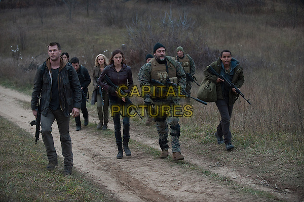 CHRIS HEMSWORTH, JOSH HUTCHERSON, ADRIANNE PALICKI, ISABEL LUCAS, JEFFREY DEAN MORGAN, CONNOR CRUISE.in Red Dawn (2012) .*Filmstill - Editorial Use Only*.CAP/FB.Supplied by Capital Pictures.