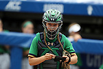 CHAPEL HILL, NC - MAY 11: Notre Dame's Madison Heide enters the game in the bottom of the first inning. The #4 Boston College Eagles played the #5 University of Notre Dame Fighting Irish on May 11, 2017, at Anderson Softball Stadium in Chapel Hill, NC in a 2017 Atlantic Coast Conference Tournament Quarterfinal Softball game. Notre Dame won the game 9-5 in eight innings.