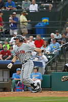 Salem Red Sox infielder Jordan Betts (41) at bat during a game against the Myrtle Beach Pelicans at Ticketreturn.com Field at Pelicans Ballpark on May 6, 2015 in Myrtle Beach, South Carolina.  Salem defeated Myrtle Beach  5-4. (Robert Gurganus/Four Seam Images)